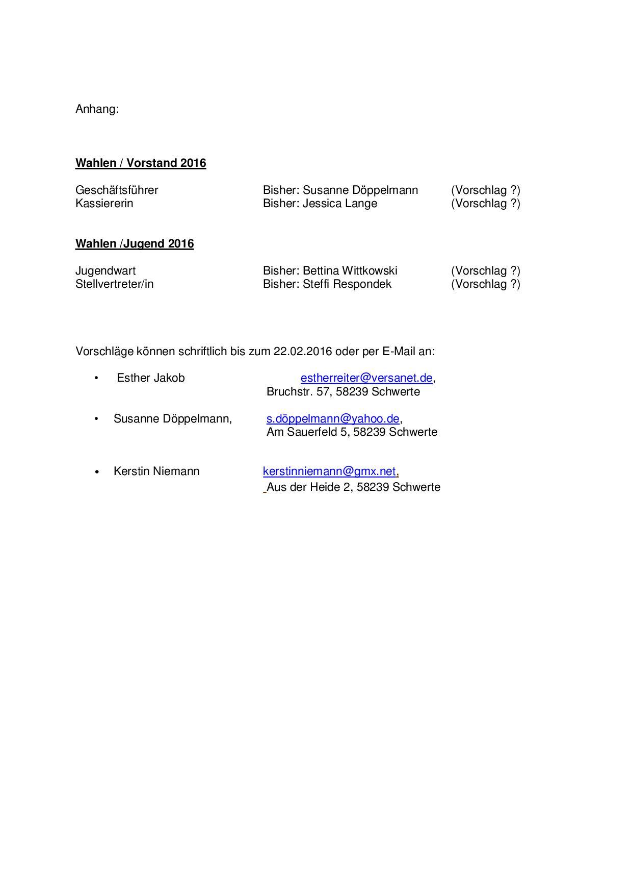 Einladung zur Jahreshautversammlung 20162